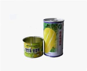 圆形种子铁罐